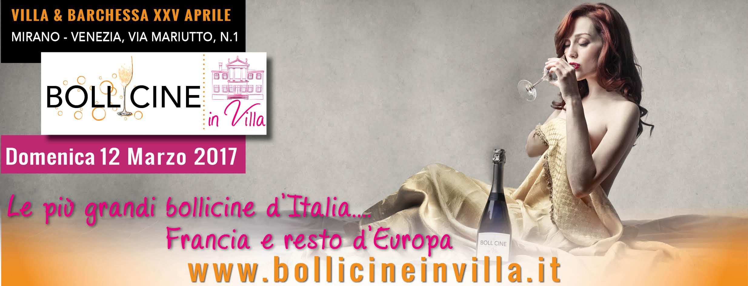 bollicine in villa Mirano 1 edizione